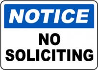 Notice No Soliciting